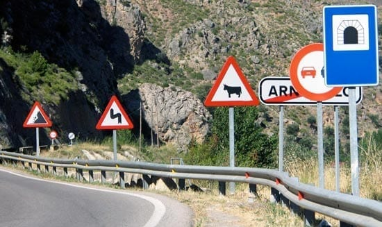 Strange Spanish traffic news