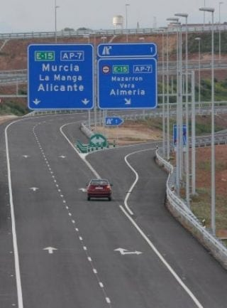Warning when driving in Spain