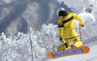Winter fun in the Sierra Nevada on the ski slopes